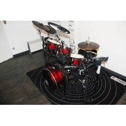 TD-25 KARRACE, ripple Red, black hardware